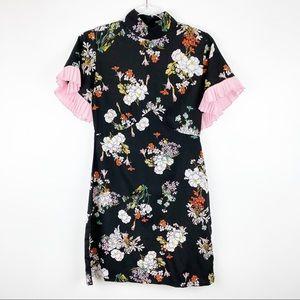 Nasty Gal Floral Mini Dress Ruffle Sleeve 4